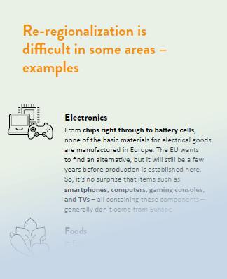 Beispiele für schwierige Bereiche in Bezug auf Re-Regionalisierung